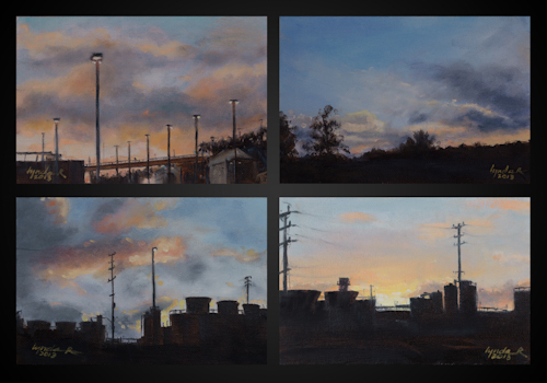 City Sunset Nos. 1, 2, 3, and 4