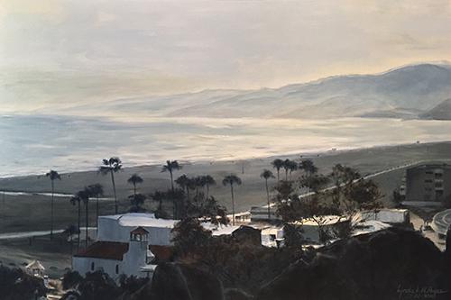 Santa Monica Beach in Grey