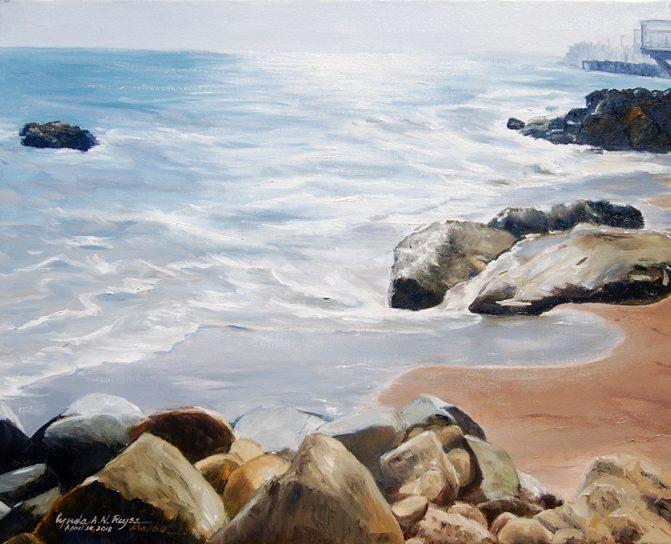 ocean along a coast with rocks