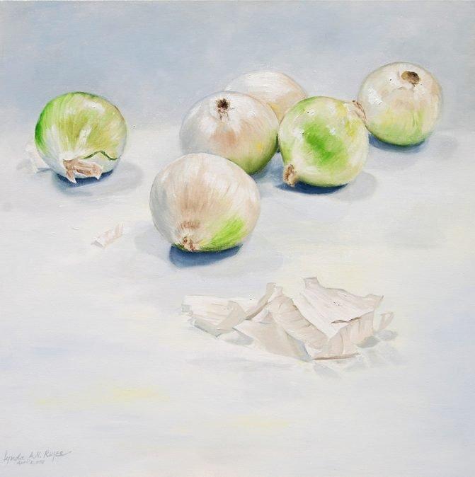 still life of onions