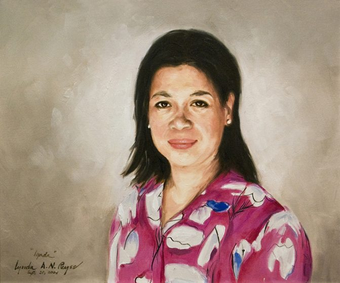 self portrait of artist lynda a. n. reyes