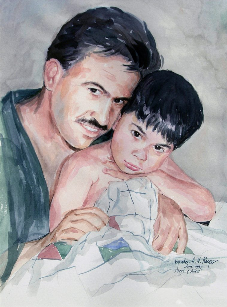 father and son portrait